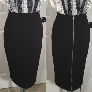 Nordstrom Halogen Double backzip pencil skirt. Sz4